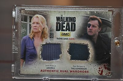 Walking Dead Season 3 DUAL WARDROBE Card  Andrea and The Governor  DM1