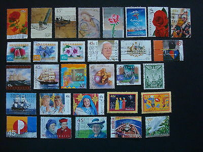 1995-1999 - 30 x Used Australian Sheet Stamps  - #12