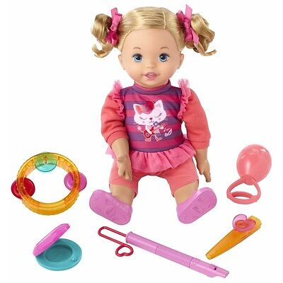 LITTLE MOMMY Let's Make Music Doll Interactive doll, 12 tunes, 95 phrases+ NIB