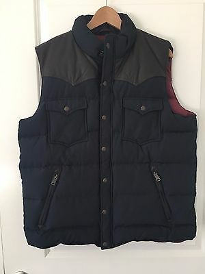 Penfield Vest - Men's XL - Navy Blue/Brown