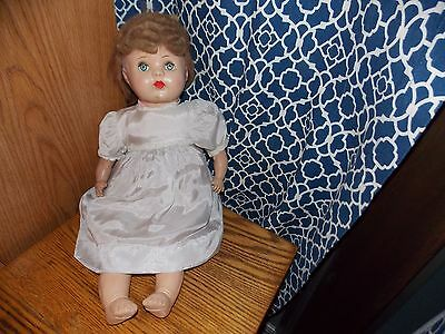 Antique Composition and Cloth Doll Glass Eyes Crier Non Working Redhead