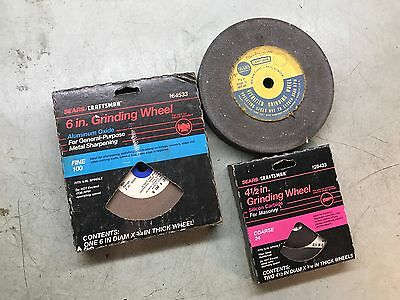 CRAFTSMAN Tools Lot of 3 Bench Grinder Grinding Wheels Fine Coarse Mixed