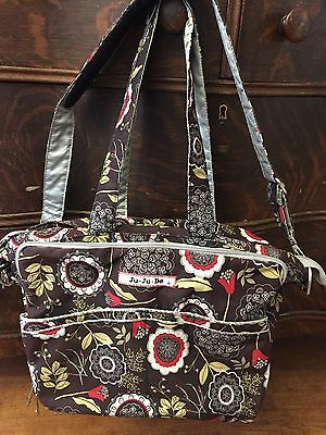 Ju Ju Be ALL Large Diaper Bag Tote Lotus Lullaby Flower Floral with changing pad