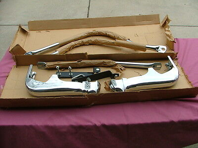 1956 DeSoto chrome deluxe front grille guard kit, NOS!