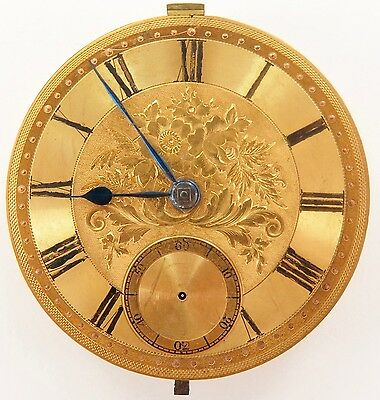 .SUPERB / MINTY 1800s WILLIAM GADSBY, LINCOLNSHIRE FUSEE MOVEMENT & DIAL WORKING