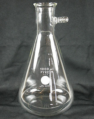 Vintage Pyrex 1000ml Erlenmeyer Flask