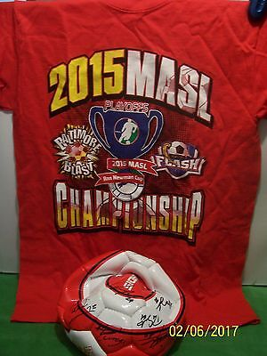 Signed 2015 Soccer Ball Playoff & Shirt Baltimore Vs Monterrey Flash