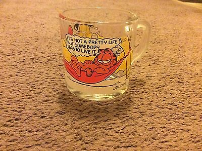 Garfield 1978 United Feature Syndicate Mcd Glass Cup Jim Davis Mug