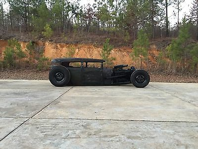 1929 Ford Model A  1929 FORD MODEL A CHOPPED RAT ROD HOT ROD BAGGED AIR RIDE COUPE CUSTOM SEDAN