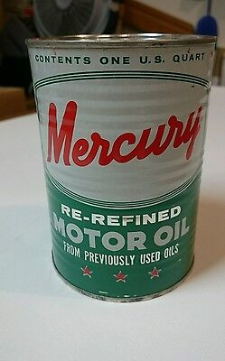 Mercury Motor Oil Promotional Display Can Bank One Quart