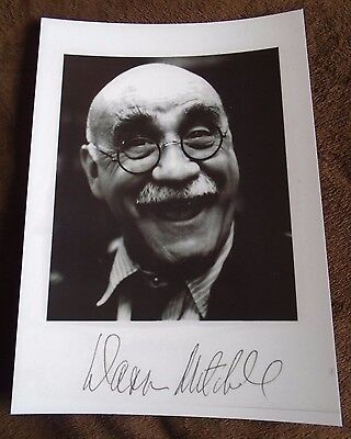 Warren Mitchell In Sickness and In Health, Till Death Us Do Part Signed A4 Print