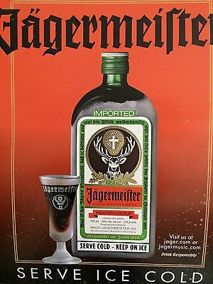 Collector's- Liquor Jager Display Card- Dress up ur wall ,man cave