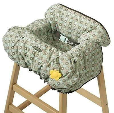 Infantino 2 in 1 Highchair And Cart Cover Aqua And Brown