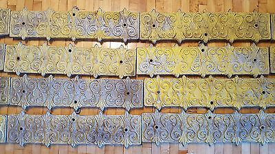 Fancy Antique Victorian Architectural Cast Aluminum Ceiling Molding Trim Salvage