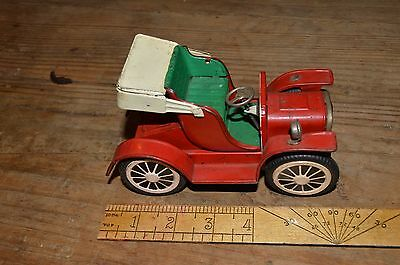 Vintage Tin Mechanical Car, Made in Japan, Right Hand Drive