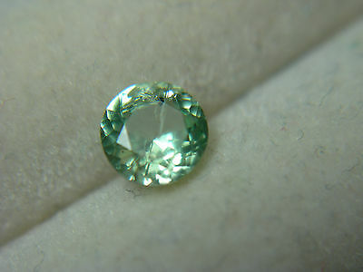 very rare MINT GREEN Kornerupine gem Tanzania natural Gemstone round stone