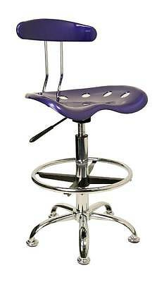 Adjustable Height Drafting Stool with Chrome Base and Ring [ID 3064598]