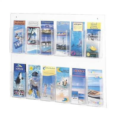 Clear2c Pamphlet Display w 12 Pockets [ID 37109]