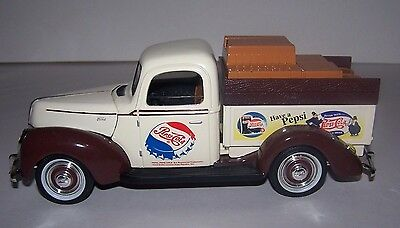 Pepsi-Cola Die-Cast 1940 Ford Replica Bank Golden Wheel NIB Collectible