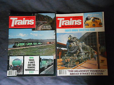 2 Trains, The Magazine of Railroading November 1983/December 1983 Issues