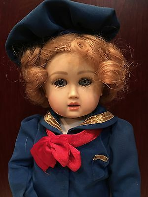 Jumeau face Bluette / Charmette Resin Doll by Ruby Red Galleria w F M Outfit