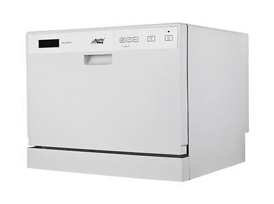 New White Portable Compact Midea Arctic King ADC3203D Countertop Dishwasher