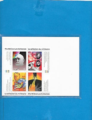 Canada   S-Sheet The Millennium  Collection  #  1825  A to D  MNH