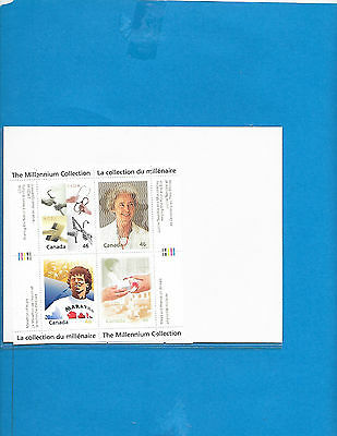 Canada   S-Sheet The Millennium  Collection  #  1824  A to D  MNH