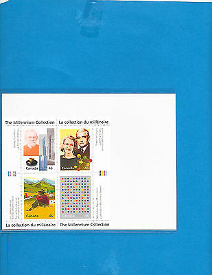 Canada   S-Sheet The Millennium  Collection  #  1830  A to D  MNH
