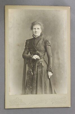 ANTIQUE CDV Carte De Visit Albany Charing Cross Romney Glasgow Lady Standing
