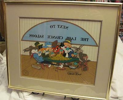 """LTD ED Cel """"NEXT TO THE LAST CHANCE SALOON"""" Signed by Chuck Jones #133 of 750"""