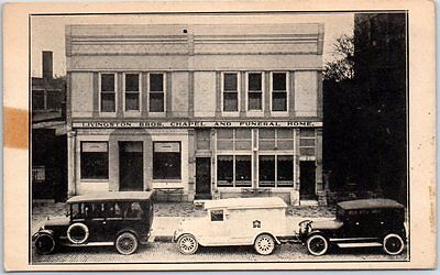 c1920s Postcard LIVINGSTON BROS. CHAPEL & FUNERAL HOME Hearses Street View