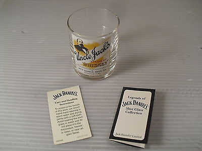 Legends of Jack Daniels Uncle Jacks Straight Whiskey Shot Glass with COA