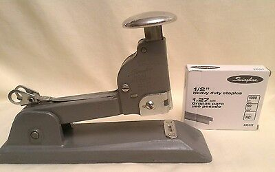 Vintage Swingline No. 13 Heavy Duty Stapler Made in USA Uses High Carbon Staples