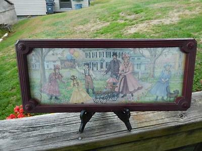 """Home Interior By Joan Stier Victorian Family In Front Yard - 19-1/8"""" x 8-1/8"""""""