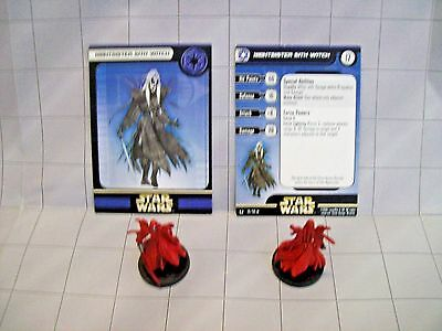 WotC Star Wars Miniatures Nightsister Sith Witch,Universe 39/60,Imp,Unc,Lot of 2