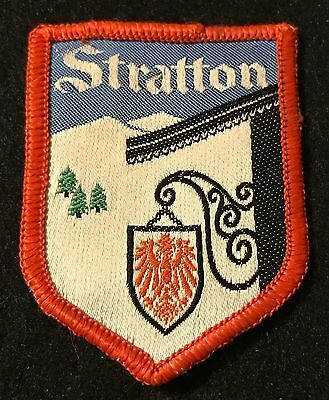STRATTON Vintage 1960s Skiing Ski Patch VERMONT VT Resort Souvenir Travel