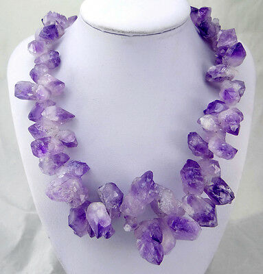 Raw Titanium Crystal Agate Amethyst Geode necklace Bead NK051