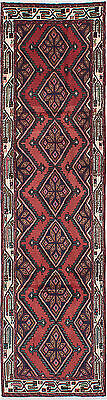 """Hand-knotted Persian Carpet 2'8"""" x 9'10"""" Koliai Traditional Red Wool Rug Runner"""