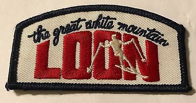 LOON THE GREAT WHITE MOUNTAIN  Skiing Ski Patch New Hampshire NH Resort Travel