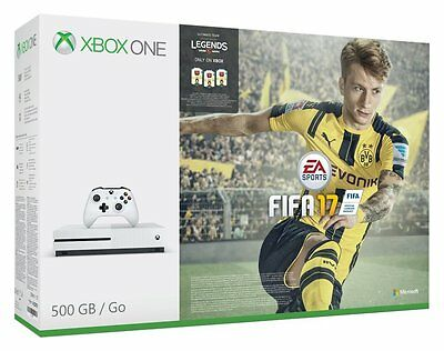 Microsoft Xbox One S 500GB White Console Fifa 17 BUNDLE BRAND NEW & SEALED