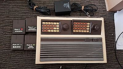 Hanimex Rameses Home Computer console with 4 cartridges RARE