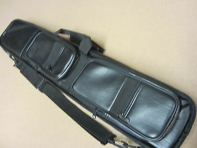 New 4x8 Soft Lucasi LC3 Pool Cue Case Black Leatherette