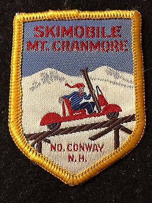 MT CRANMORE SKI MOBILE Vintage Skiing Patch North Conway NEW HAMPSHIRE NH Travel
