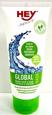 HEY Sport Global Wash for textiles und Skin and Hair 100 ml