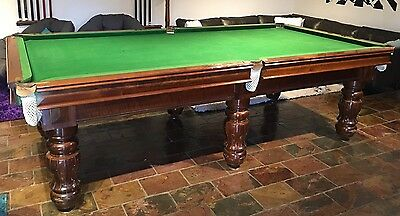 Antique Ace billiards Pool Table SOILD SLATE BASE With accessories
