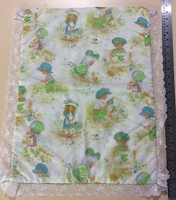 Vintage Baby/Doll Bassinet Quilt Sarah Kay Girls Boys  Fabric Lime Green