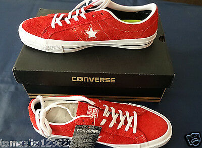 NEW Men CONVERSE ONE STAR Red Suede Casual Tennis Shoes Sneakers 153063C Size 11