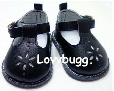 Black T-Strap Mary Janes for 18 inch Doll Shoes American Girl or Bitty Baby
