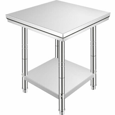 Kitchen Work Prep Table 60X60 CM Stainless Steel Commercial Table Storage Space